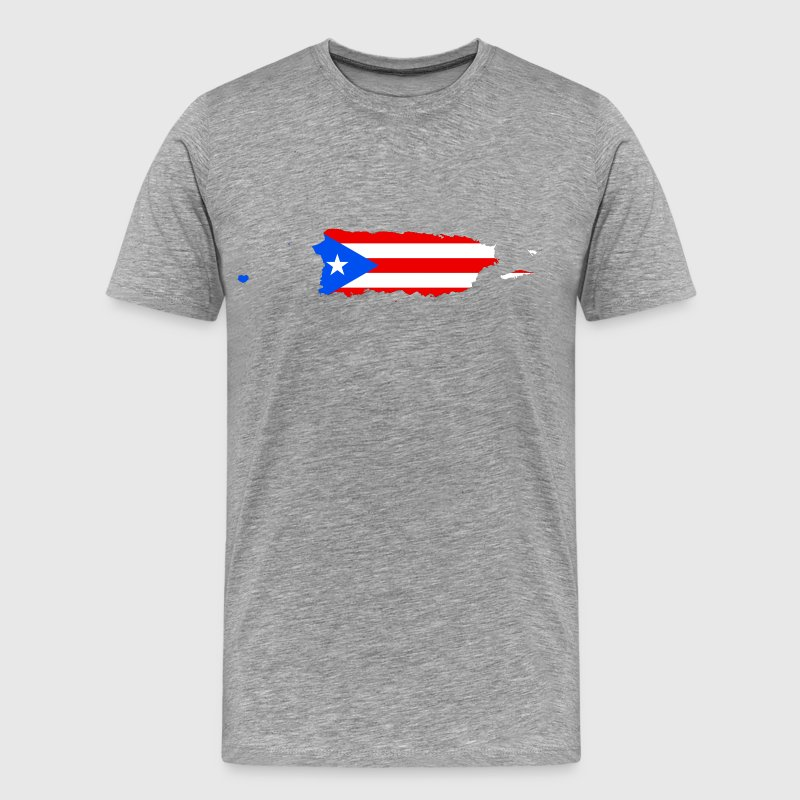 Puerto Rico Map Flag - Men's Premium T-Shirt