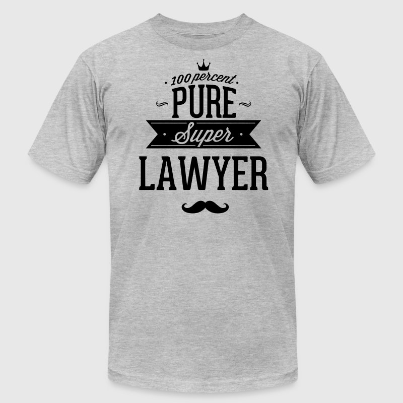 100 percent pure super lawyer T-Shirts - Men's T-Shirt by American Apparel
