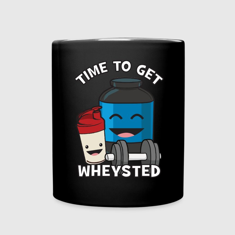 Time To Get Wheysted Mugs & Drinkware - Full Color Mug