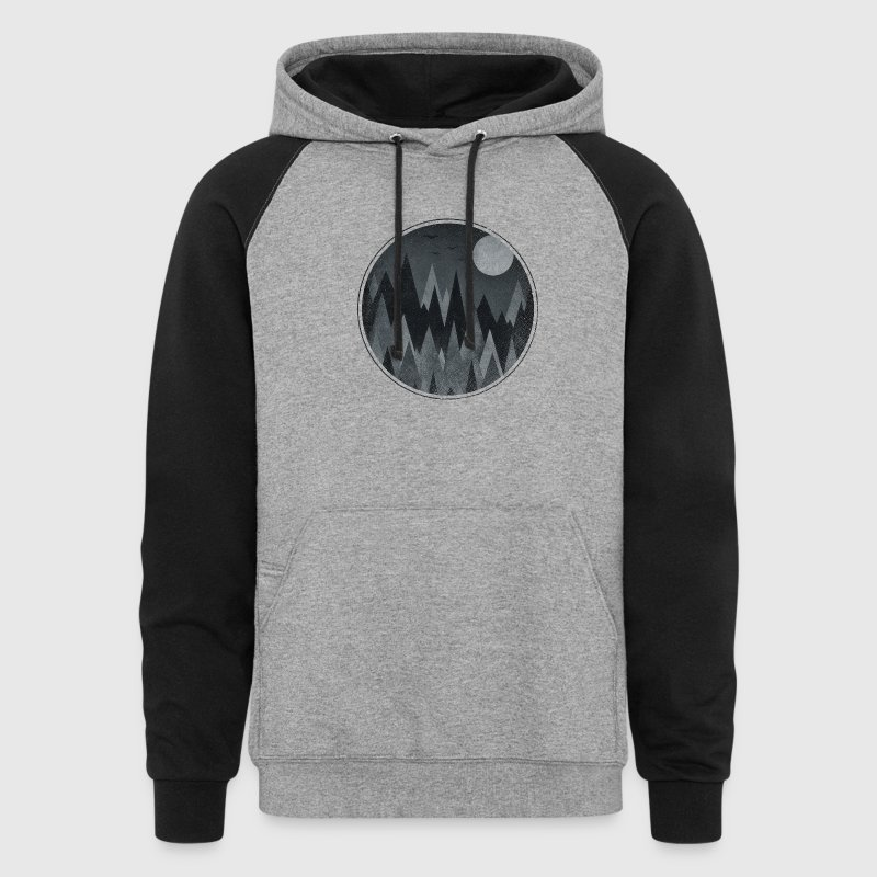 Black & White Triangles Abstract mountains design Hoodies - Colorblock Hoodie
