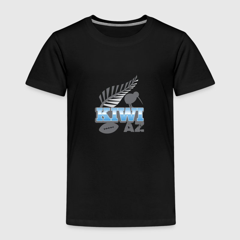 Kiwi AS with silver fern bird and rugby ball Baby & Toddler Shirts - Toddler Premium T-Shirt