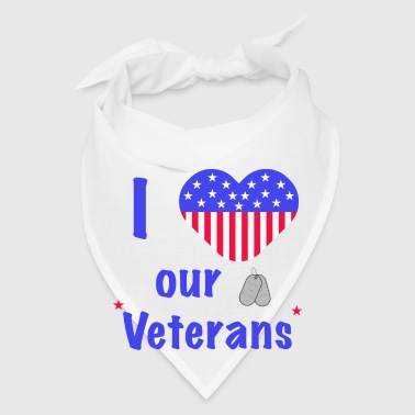 I Heart Our Veterans Phone & Tablet Cases - Bandana