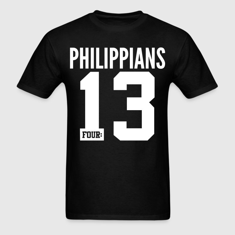 Philippians 4:13 Christian Bible Verse Quote T-Shirts - Men's T-Shirt