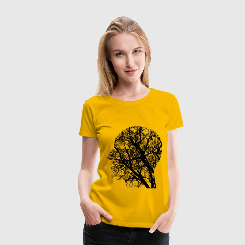 Tree Man Silhouette - Women's Premium T-Shirt