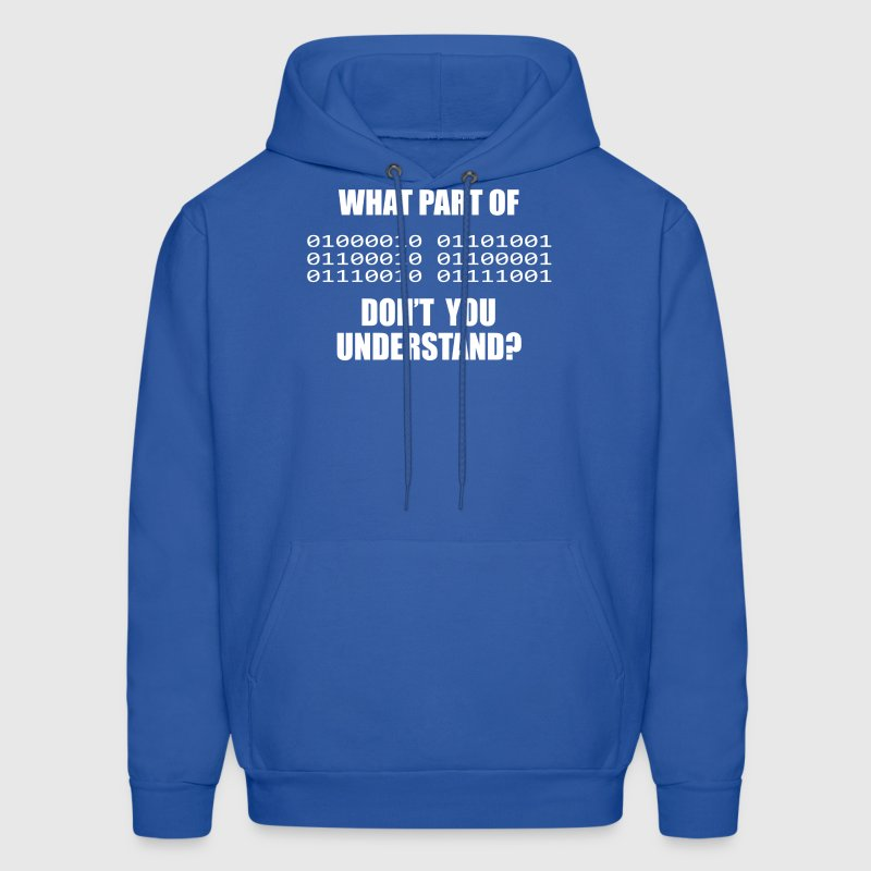 What Part of Binary Code - Men's Hoodie
