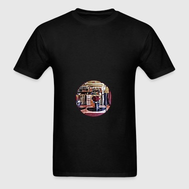 Barbershop With Coat Rack Bags & backpacks - Men's T-Shirt