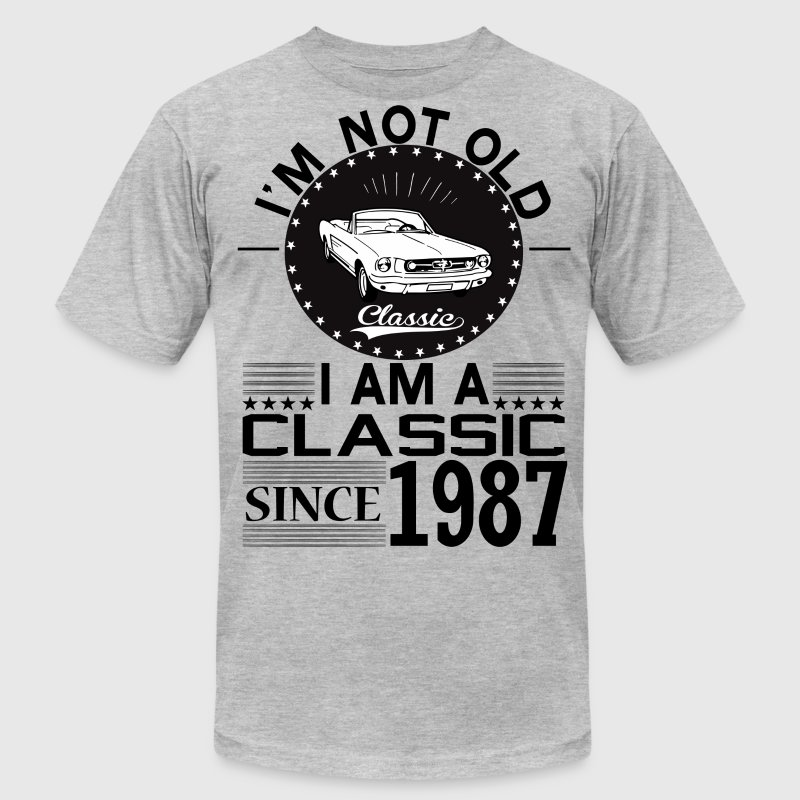 Classic since 1987 T-Shirts - Men's T-Shirt by American Apparel
