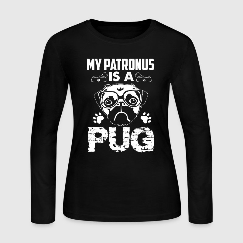 My Patronus Is A Pug Tee - Women's Long Sleeve Jersey T-Shirt
