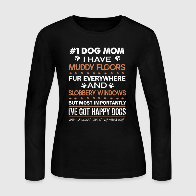 Dog Mom Shirts - Women's Long Sleeve Jersey T-Shirt