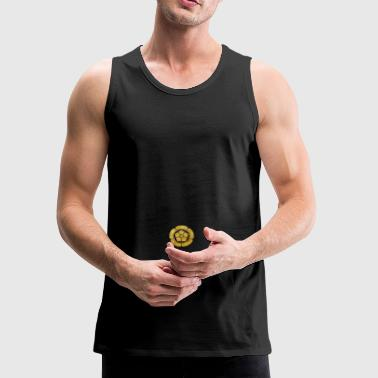 Oda Mon Japanese samurai clan faux gold on black - Men's Premium Tank