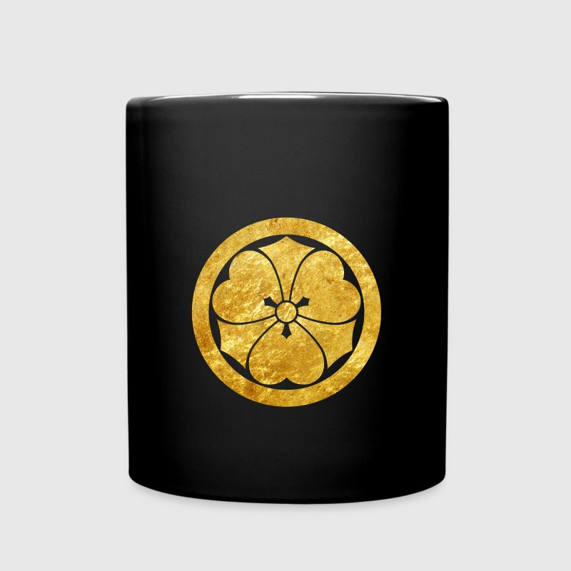 Sakai Mon Japanese samurai clan in faux gold - Full Color Mug