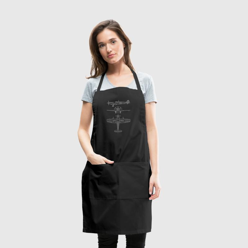 Spitfire airplane blueprint Aprons - Adjustable Apron