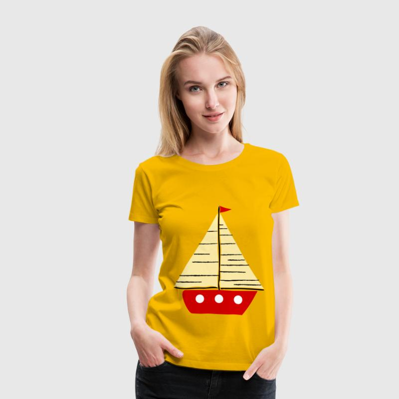 Red sail boat 2 - Women's Premium T-Shirt