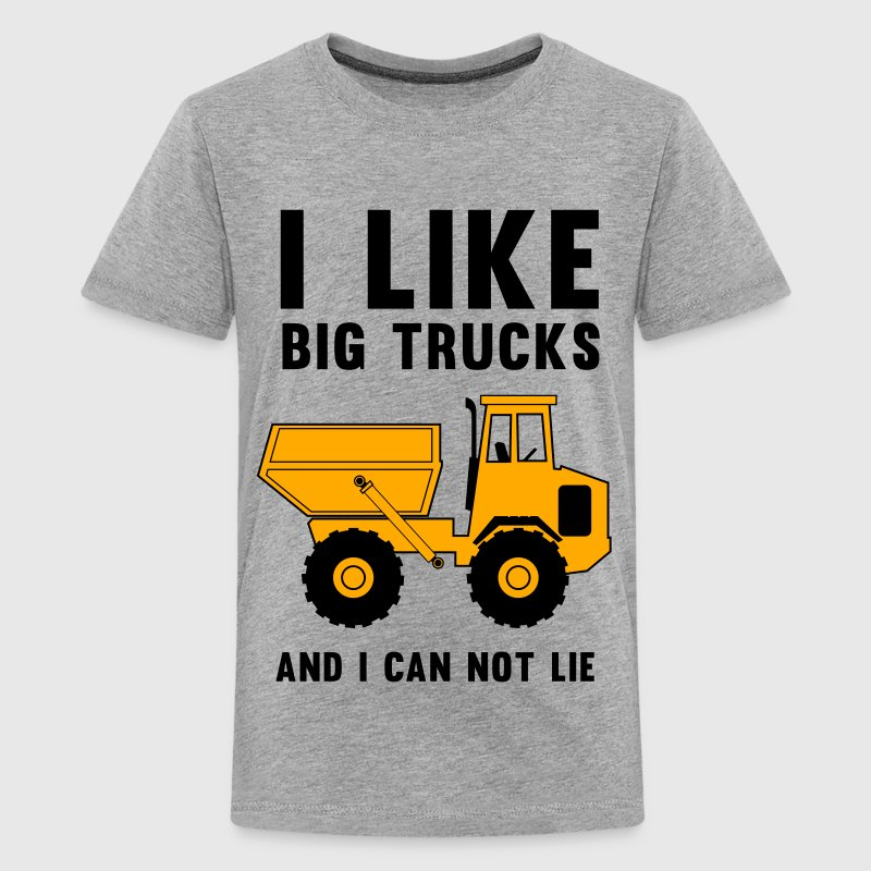 I like big trucks and I can not lie Kids' Shirts - Kids' Premium T-Shirt