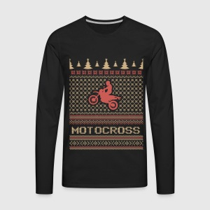 Motocross ugly Christmas sweater T-Shirt | Spreadshirt