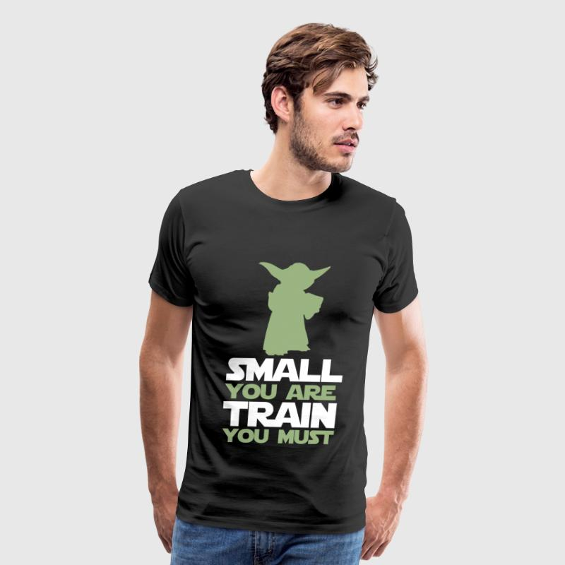 Yoda Star Wars - Small you are, train you must - Men's Premium T-Shirt