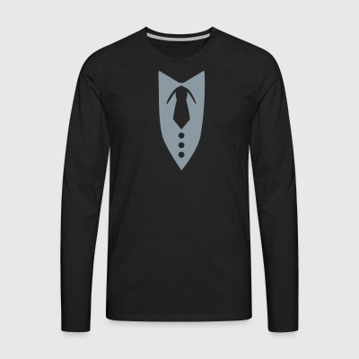 Suit T-Shirts - Men's Premium Long Sleeve T-Shirt