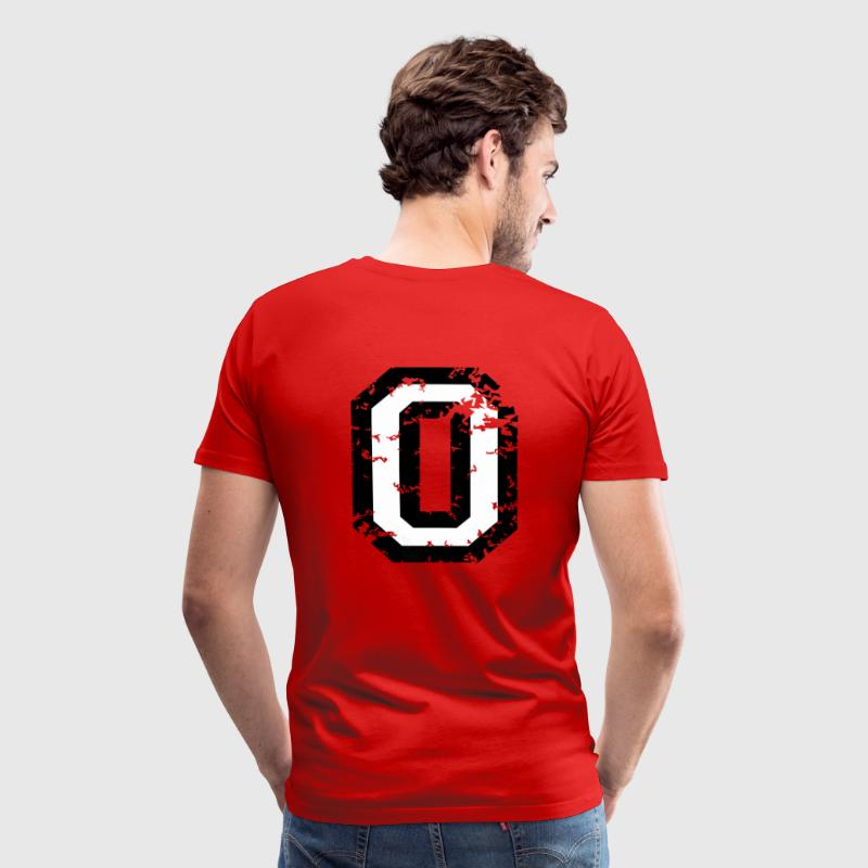 Number Zero T-Shirt No.0 (Men Red) Back - Men's Premium T-Shirt