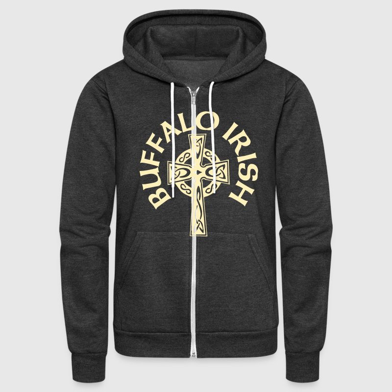 Buffalo Irish Celtic Cross Apparel Clothing Zip Hoodies & Jackets - Unisex Fleece Zip Hoodie