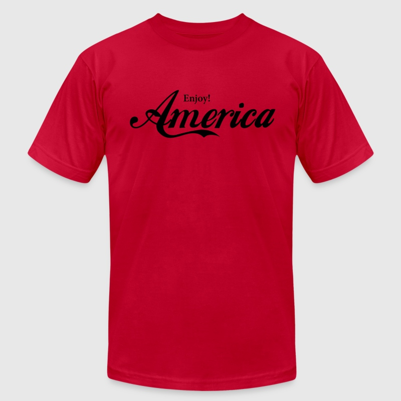 Enjoy America T-Shirts - Men's T-Shirt by American Apparel