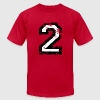 Number Two T-Shirt No.2 (Men Red) - Men's T-Shirt by American Apparel