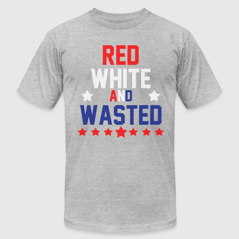 Red White & Wasted T-Shirts - Men's Fine Jersey T-Shirt