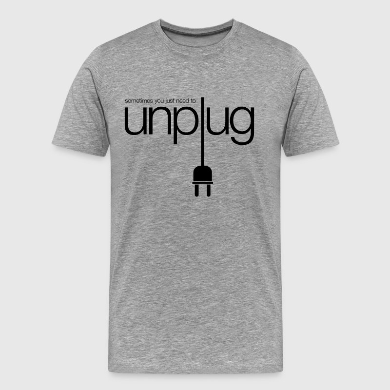 unplug T-Shirts - Men's Premium T-Shirt