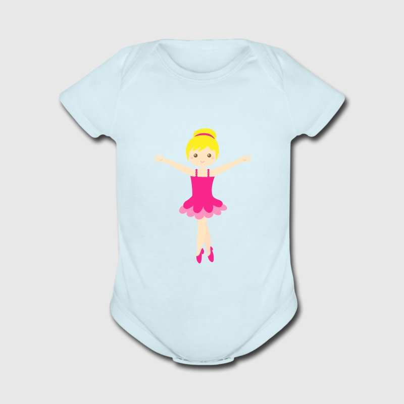 cute ballerina in pink tutu Baby & Toddler Shirts - Short Sleeve Baby Bodysuit