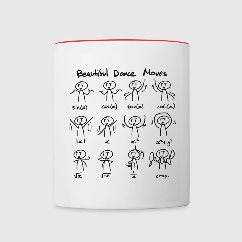 Beautiful Math Dance Moves Mug - Contrast Coffee Mug