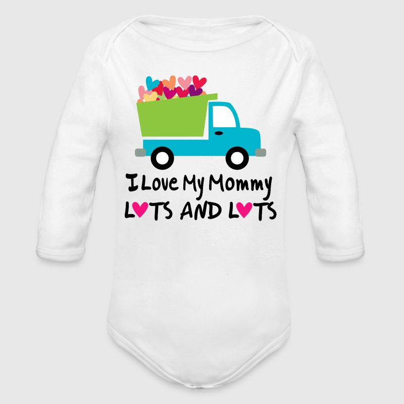 I Love Mommy Baby T-shirt - Long Sleeve Baby Bodysuit