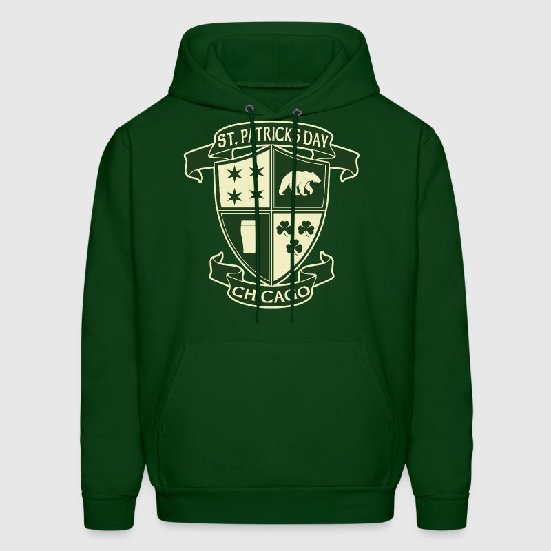 st_patricks_day_chicago_irish_crest_clothing_tees Hoodies - Men's Hoodie