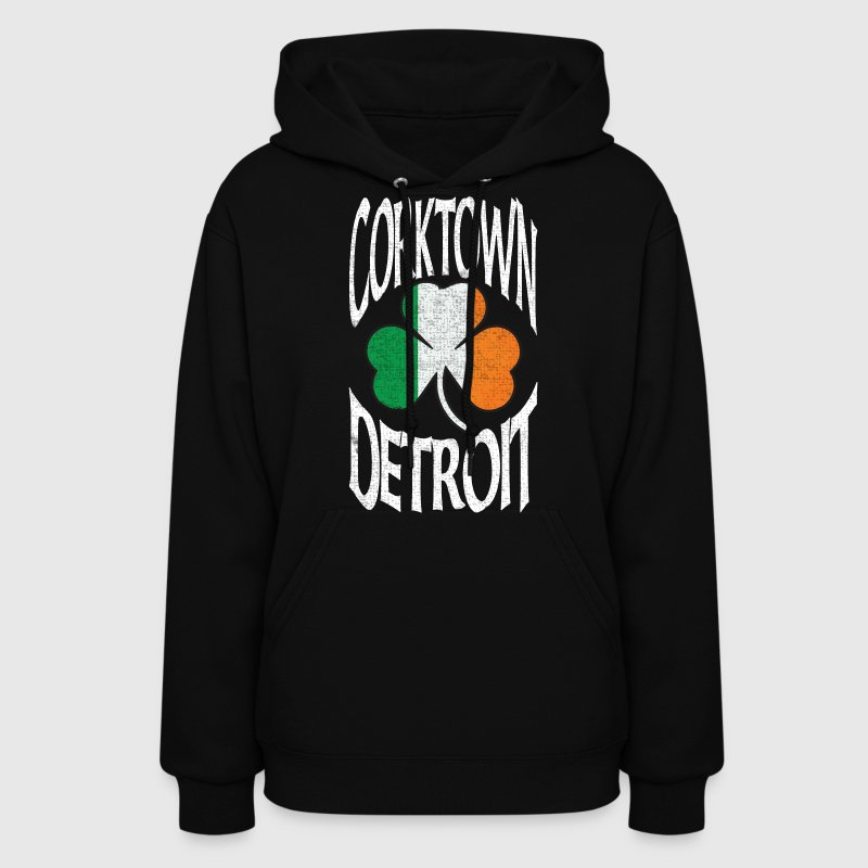 Corktown Detroit Irish Shamrock  Hoodies - Women's Hoodie
