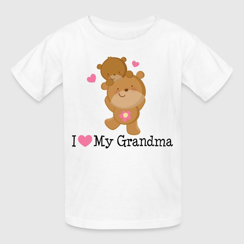 I Love My Grandma (Bears) Kids' Shirts - Kids' T-Shirt