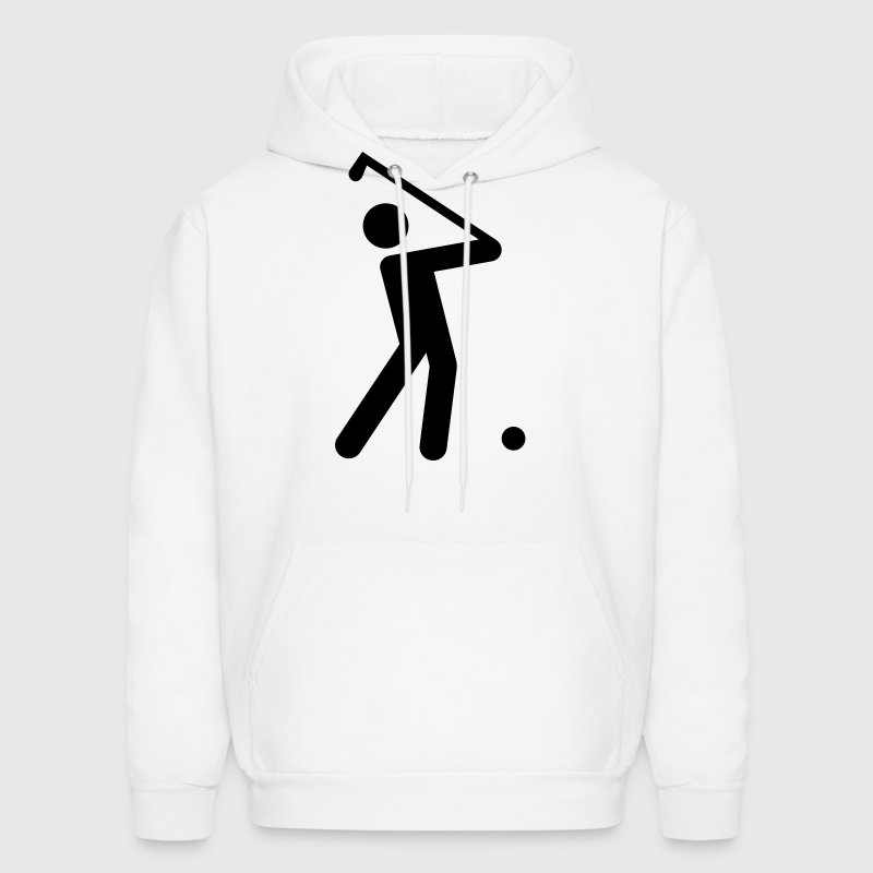 Golf Stickman  Hoodies - Men's Hoodie