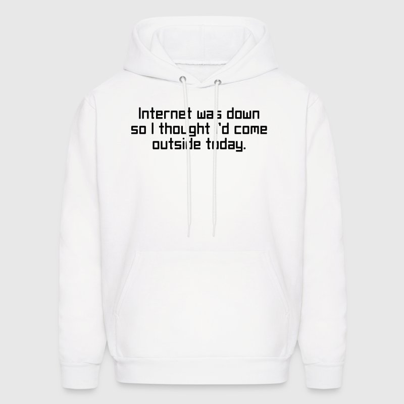 Internet Was Down Hoodies - Men's Hoodie