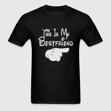 This Is My Bestfriend (Pointing Right) - Men's T-Shirt