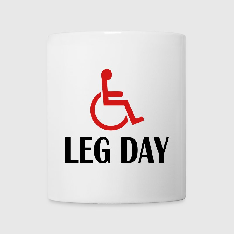 leg day fitness and WOD funny Bottles & Mugs - Coffee/Tea Mug