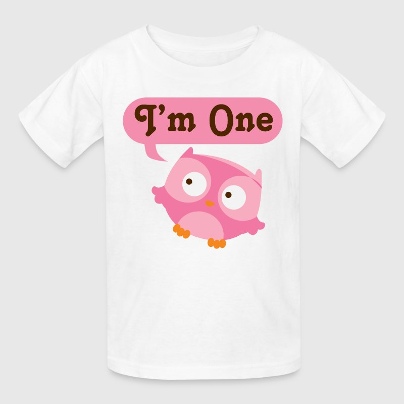 1st birthday baby girl owl t shirt spreadshirt T shirt with owl design