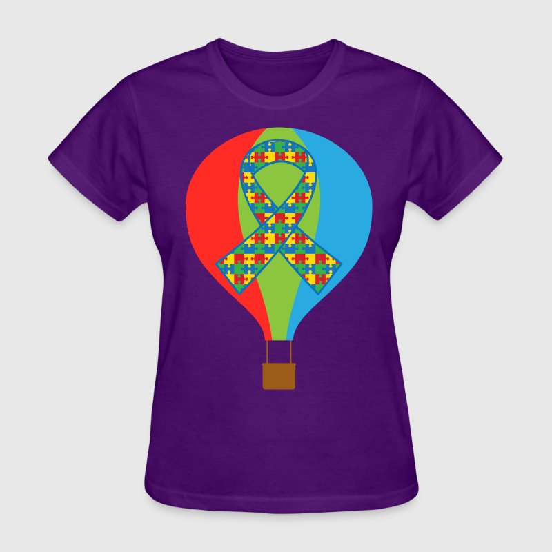 Autism Hot Air Balloon Women's T-Shirts - Women's T-Shirt