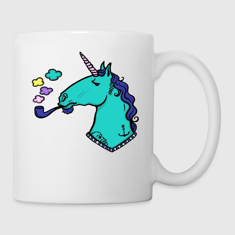 smoking unicorn Bottles & Mugs - Coffee/Tea Mug