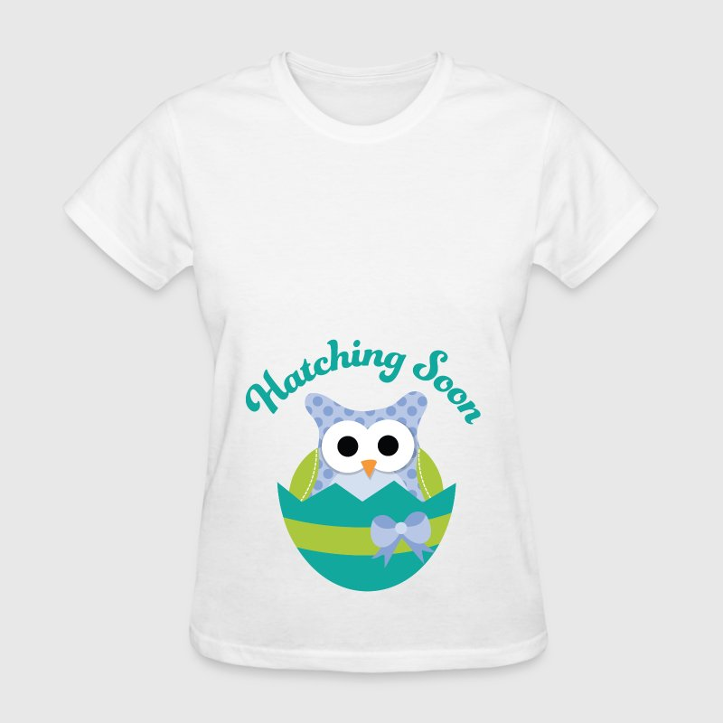 Easter maternity owl hatching soon t shirt spreadshirt T shirt with owl design
