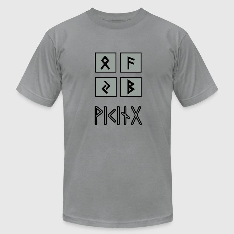 Viking Runes - Men's T-Shirt by American Apparel