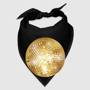 Disco Ball / Mirror Ball (Gold, PNG) Tote Bag - Bandana