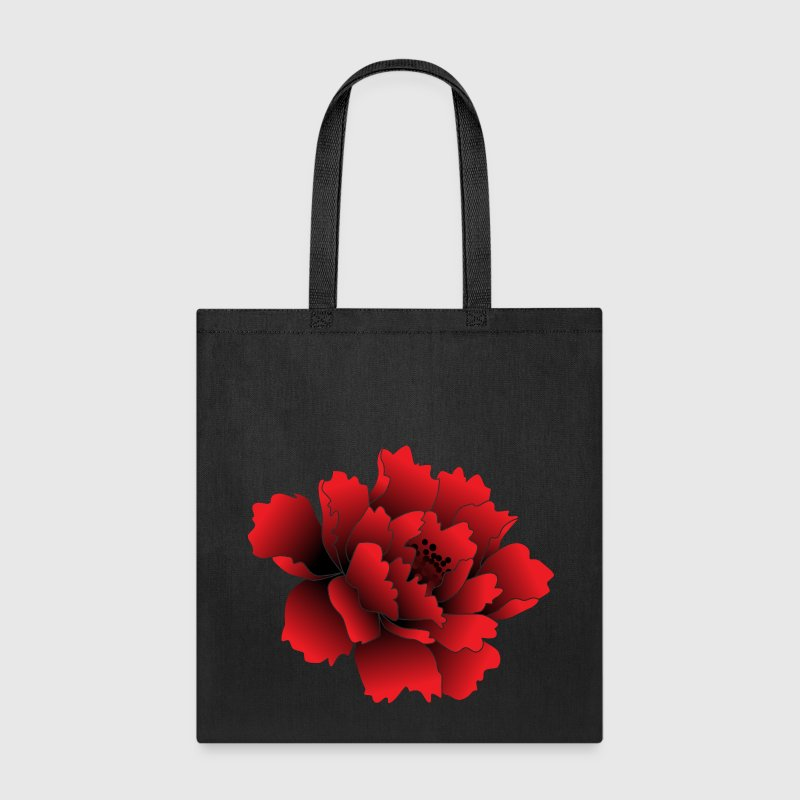 Red Peony Flower Bags & backpacks - Tote Bag