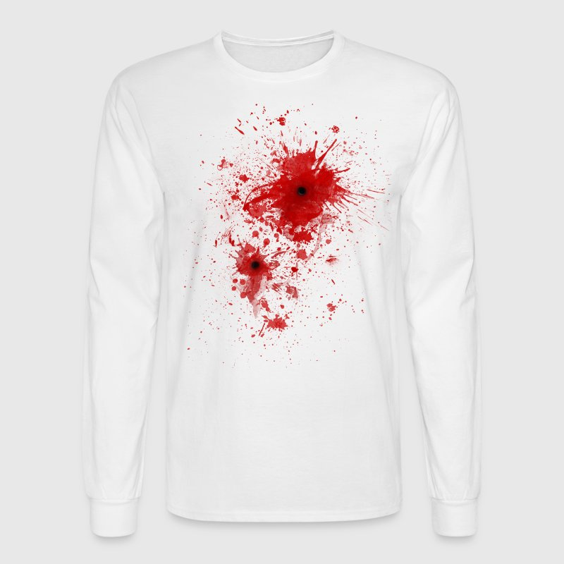 Blood spatter / bullet wound - Costume  Long Sleeve Shirts - Men's Long Sleeve T-Shirt