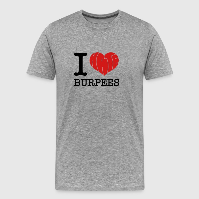 I Heart (Hate) Burpees T-Shirts - Men's Premium T-Shirt
