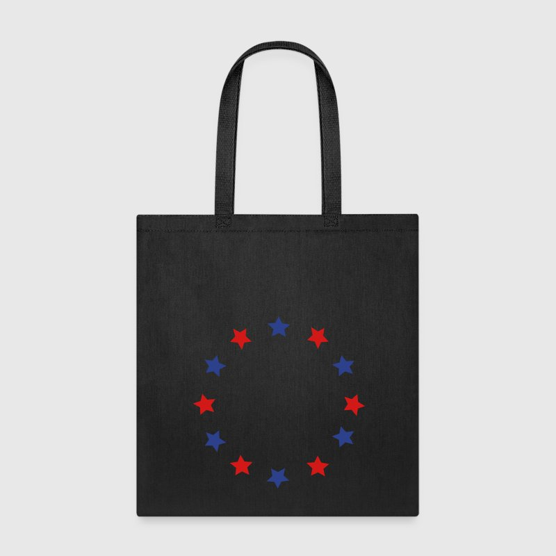 Blue and red stars in a circle, vector Bags & backpacks - Tote Bag