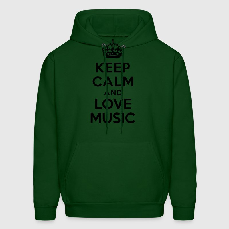 Keep calm and Love Music Hoodies - Men's Hoodie