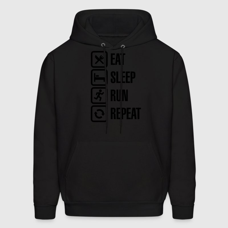 Eat sleep run repeat Hoodies - Men's Hoodie