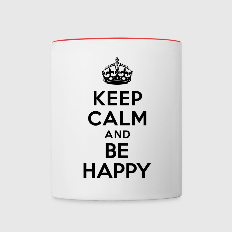Keep calm and be happy Bottles & Mugs - Contrast Coffee Mug